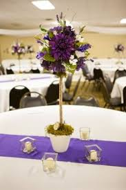 Handmade Centerpieces For Weddings by Purple Aisle Markers Centerpiece Centerpieces Indoor Ceremony