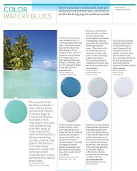 paint palette watery blues interiors by color