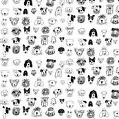 dog fabric wallpaper u0026 gift wrap spoonflower