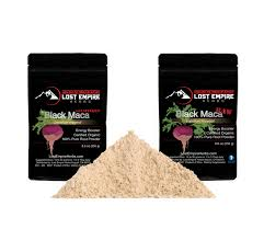 black maca organic raw powder energy booster lost empire herbs