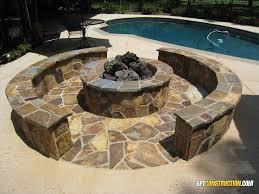 Backyard Fire Ring by Outdoor Rocklin Fire Pitgpt Construction