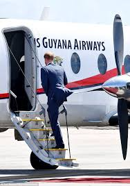 Big Booty Guyanese - prince harry boards plane from barbados to guyana on final leg of