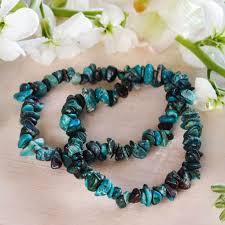 bracelet stone images Chrysocolla chip stone bracelets for divine feminine healing jpg