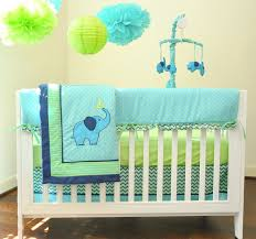 Green Elephant Crib Bedding Blue And Green Elephant Baby Bedding Baby Bed