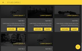Two Dark Ui - ionic 3 ui theme template app material design yellow dark by