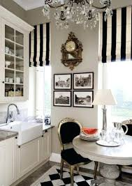 Black And White Striped Curtains Black And White Gingham Kitchen Curtains Black And White Kitchen
