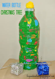 water bottle crafts water bottle christmas trees fun craft for