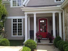 Front Door Colors For Gray House Three White Glass Window Front Entry Door Basket Beige Exterior