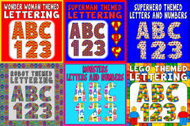 themed letters superman themed letters numbers teaching resources display