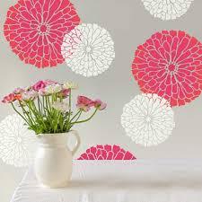 summer blossom flower stencil floral designs for walls