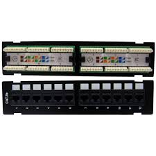 wall mount 12 port cat5e patch panel 110 type 10 inch