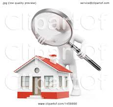Home Inspector by Clipart Of A 3d White Man Home Inspector Over A House On A White
