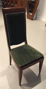 six gaston poisson attributed french art deco dining chairs u2013 1 of