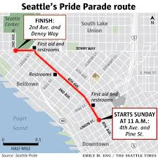 Downtown Seattle Map by Seattle Pride Parade Scenes From Pridefest In Downtown The