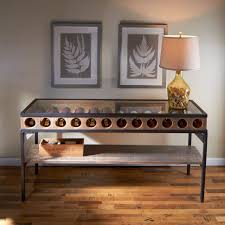 sofa table with wine rack console table wine rack console table bottle display enthusiast