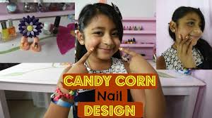 candy corn nail designs for little girls youtube