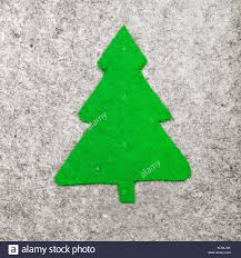 christmas tree on grey background felt christmas ornaments with
