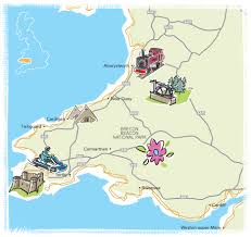 where is wales on the map south wales parks cing