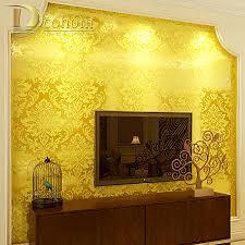 dcohom european style gold foil black gold damask wallpaper for