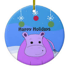happy hippo ornaments keepsake ornaments zazzle