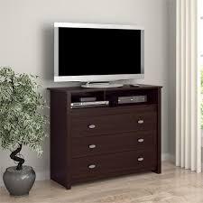 Espresso Bedroom Furniture by 3 Drawer Dresser Chest Tv Stand Media Storage Modern Bedroom