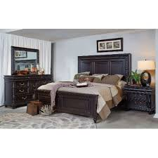 Cabernet Black Traditional  Piece King Bedroom Set Meritage - Rc willey black bedroom set