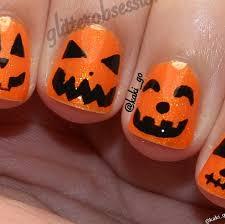 Halloween Nail Art Pumpkin - 34 nail polish designs for halloween picsrelevant