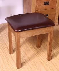 pu cushion small square stool white oak wood makeup vanity stool