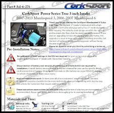 corksport short ram intake review page 5 2004 to 2016 mazda 3