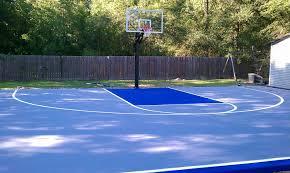 Backyard Basketball Hoops Backyard Basketball Court Installation Home Outdoor Decoration