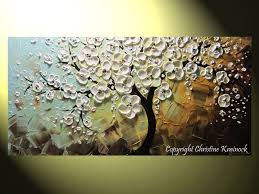 original abstract tree paintings blossoming trees contemporary
