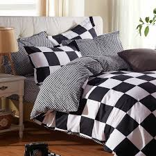 Black And White King Size Duvet Sets Wholesale Classic Black And White Bed Linen Bedding Set King Size