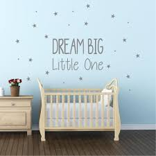 dream big little one wall sticker decal nursery kids bedroom
