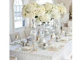 Deco Table Mariage Champetre decoration mariage idee deco table mariage blanc argent idee