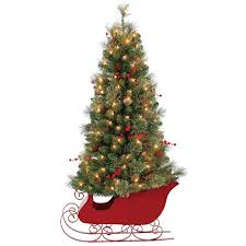 e11 4 ft pre lit blitzen sleigh tree at home at home