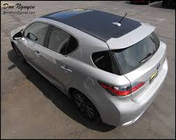 lexus wrapped lexus ct200h wagon matte carbon fiber roof vinyl car wrap