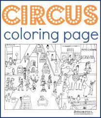 circus coloring free printable free craft