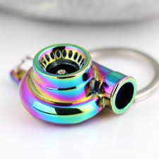 color key rings images Rainbow color turbo keychain auto parts model spinning charming jpg