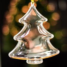 x20 clear large tree shaped decorations empty