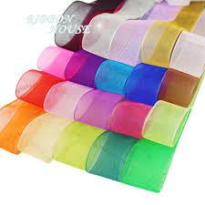 organza ribbon wholesale aliexpress buy 50 yards roll 20 25 40 50mm organza ribbon