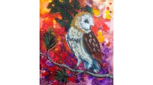 cosmic owl acrylic painting lesson the art sherpa youtube