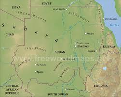 South Sudan Map Sudan Physical Map