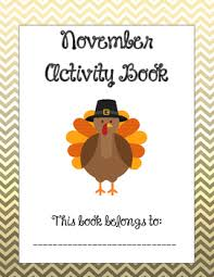 no prep november thanksgiving activity book smiles for second