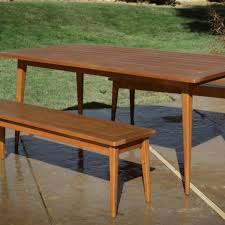 Mid Century Dining Room Wood Carmel Mid Century Style Dining Table World Market