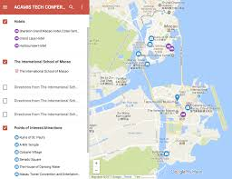 Macau China Map by Acamis 2017 Technology Conference Tis Macao