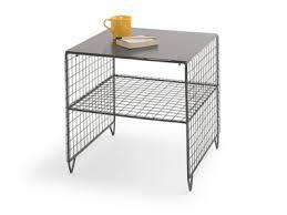 grey metal bedside table bedside tables wooden metal bedside cabinets loaf inside metal