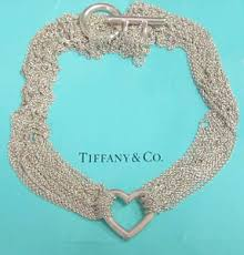 tiffany sterling necklace images Tiffany co heart toggle multi chain mesh necklace sterling jpg