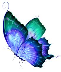 Blue And Green Butterfly - transparent blue and green deco butterfly png clipart gallery