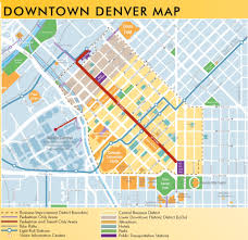 Map Of Colorado State by Denver Downtown Map
