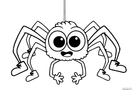 Free Printable Halloween Decorations Kids Cartoon Spiders Coloring Pages Animals Spider Page Free Printable